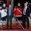 MONTREAL, CANADA - DECEMBER 26: Slovakia's Martin Reway #10 and Canada's Robby Fabbri #29 are named Players of the Game during preliminary round action at the 2015 IIHF World Junior Championship. (Photo by Richard Wolowicz/HHOF-IIHF Images)